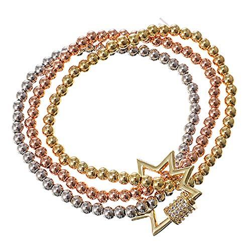 CXWK Bonito Brazalete con Colgante de Villano, brazaletes para Mujer, Cadena de eslabones chapados en Oro de Acero Inoxidable, joyería de Moda