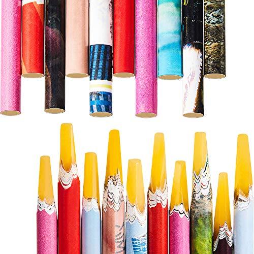 20 Stücke Nagel Kunst Pflücker Harz Bleistift Nagel Wachs Picking Stifte Strasssteine Punktierung Pick up Werkzeuge für den Hause Salon Benutzen, Zufällige Farbe