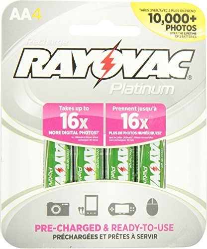Rayovac Platinum Rechargeable NiMH Batteries