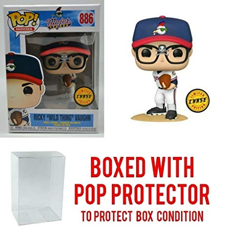 Ricky Wild Thing Vaughn Chase Edition #886 Pop Movies: Major League Vinyl Figure (Includes Ecotek Pop Box Protector Case)