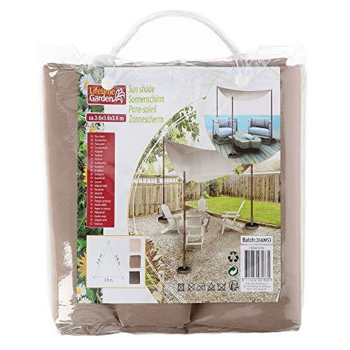 Lifetime Garden Toile d'ombrage triangulaire 3,6 x 3,6 m Marron