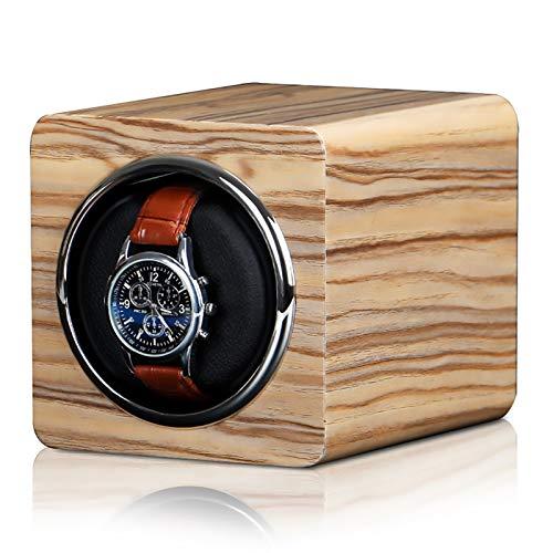 Caja de enrollamiento de Spinner Mini Winders - Mini Reloj automático Caja de enrollamiento Reloj mecánico Silent Motor Shaker Shaker Relojes Mostrar porta rotación Estuche de almacenamiento Accionado