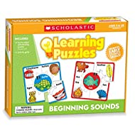 Scholastic Teacher's Friend Beginning Sounds Learning Puzzles, Multiple Colors (TF7151)