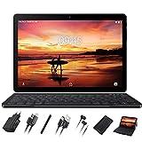 Tablet 10 Pollici GOODTEL con RAM da 4 GB, ROM da 64 GB, G3 Tablets PC Android con Doppia Fotocamera (5MP+8MP), WiFi | GPS | Bluetooth | Doppia SIM | MicroSD | Type-C, con Tastiera Bluetooth, Grigio