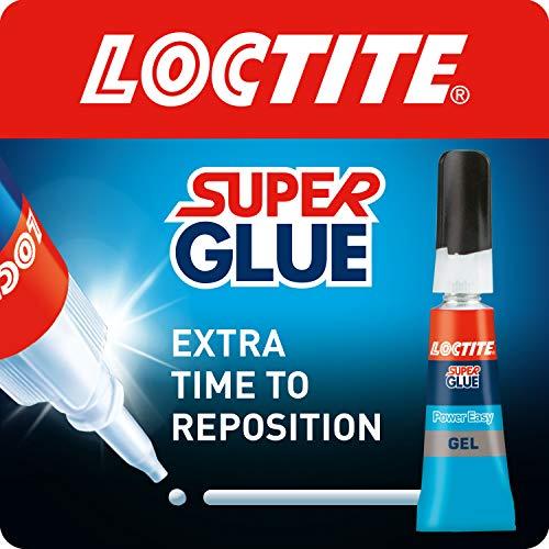 Loctite Super Glue Power Easy Gel/Extra sterke gel non-drip lijm voor leer, rubber, hout, metaal, porselein, papier, plastic / 1 x 3g buis