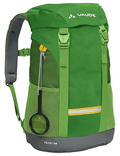VAUDE Pecki 14 – Mochila de senderismo para niño – color verde, talla 14L