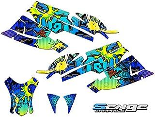 Compatible with Arctic Cat 2005-2006 Firecat/Sabercat Zany Blue Graphics kit