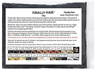 Hair Building Fibers 25 gram (ammonium chloride free) Refill Bag by Finally Hair. Compatible Replacement/Refill for Toppik Xfusion (Soft Black)