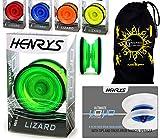 Henry's Flames N Games LIZARD Yoyo professionnel avec ficelle, livret d'explications et sac de transport