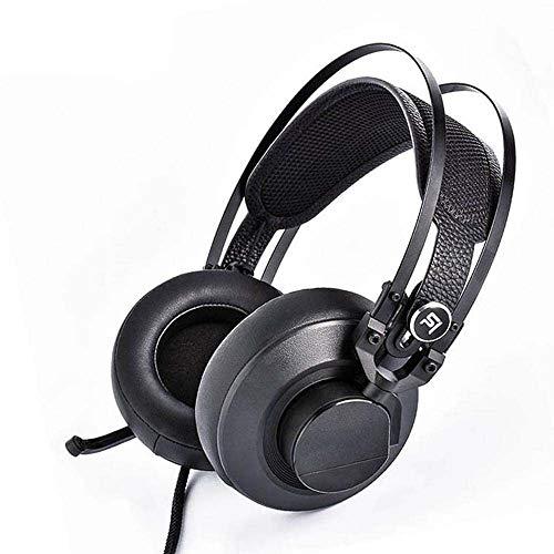 ZENWEN Gaming-Kopfhörer, verdrahtet USB-Schnittstelle Computer Notebook Kopfhörer Bass Stereo-Kopfhörer-Mikrofon (schwarz)