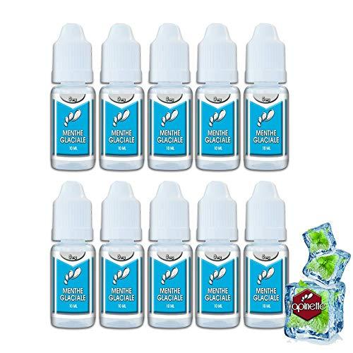LOT DE 10 - E-liquides Menthe Glaciale 70/30 SANS TABAC SANS NICOTINE