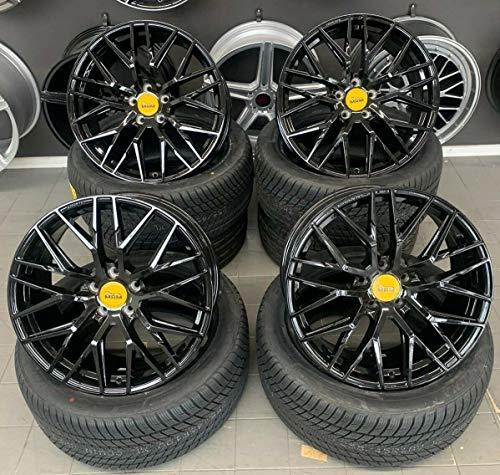 4 x 19 Zoll MAM RS4 Alu Felgen 8,5x19 5x112 ET45 schwarz lackiert für A4 B8 8K A6 A6 Avant 4G 4K A6 A6 Avant 4F 4K S4 B8 8K S-Line S6 S4 Sportback Limousine Cabrio NEU
