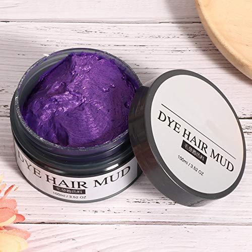 Crema de color para el cabello, herramienta para peinar el cabello, cera para teñir el cabello, conveniente para todos los tipos de cabello para peluqueros de salón(purple)