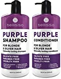 Purple Shampoo and Conditioner ​Set - ​Sulfate Free Salon Grade - Hydrating Toner - Shimmer ​Correction​ ​for​ Platinum Blonde, Silver, Light, ​and Grey​ Hair