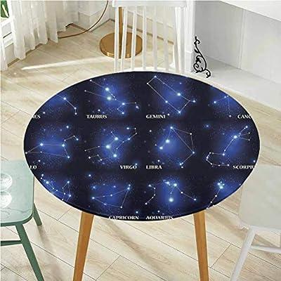 Round Tablecloth Round Tablecloth Tablecloths,Constellation,Zodiac Sign Set