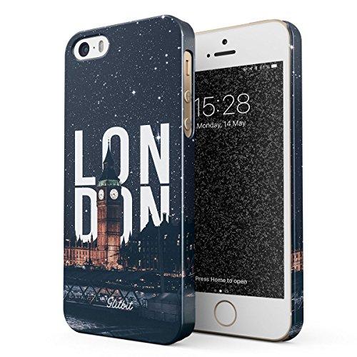 Glitbit Cover per iPhone 5 / 5s / SE Case London Big Ben Great Britain United Kingdom England Travel Explore Wanderlust Londra Sottile Guscio Resistente in Plastica Dura Custodia Protettiva