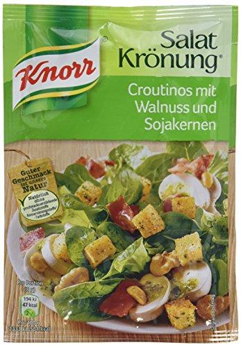 Knorr Salatkrönung Croutinos mit Walnuss und Sojakernen, 25 g