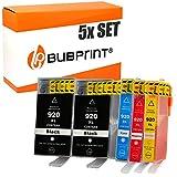 5 Bubprint Druckerpatronen kompatibel für HP 920 XL 920XL für OfficeJet 6000 6500 6500A Plus 7000 Special Edition 7500A Wireless Schwarz Cyan Magenta Gelb Multipack