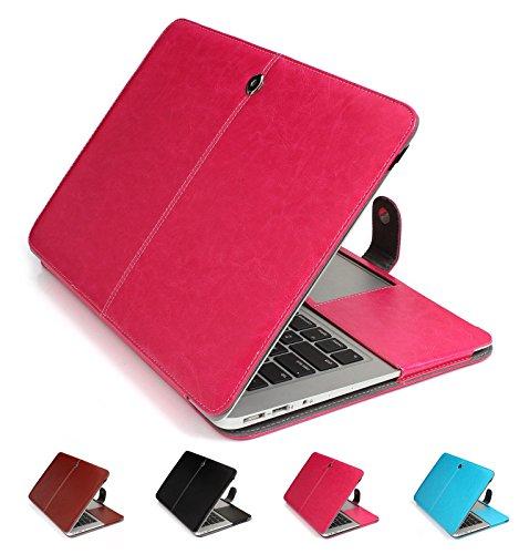 GranVela MacBook PU Custodia in Pelle, Copertura di Caso per Apple 11', 11.6' inch MacBook Air - Rosa