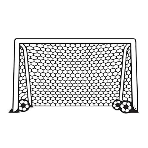 TOYANDONA Fußball Netz Wandaufkleber Dekorative Fußball Tor Netz Aufkleber Sport Silhouette Kunst Vinyl Dekoration für Kinder Jungen Zimmer