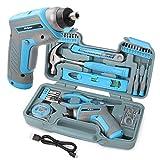 Conjunto de herramientas para bricolaje casero de 35 piezas a azul con un...