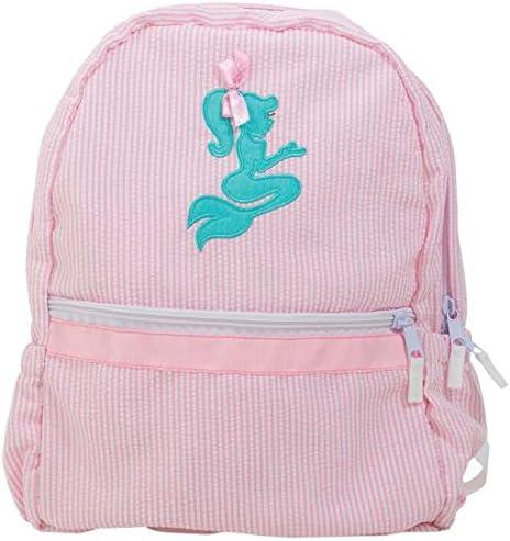 Nikiani Palm Beach Crew Seersucker Seaside Collection Backpack Pink Mermaid product image