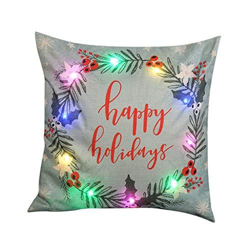 2020 Christmas Garland Color Lights Christmas Pillow LED Lights Pillow Creative Printing Linen Usdian-2020-AA-1021-1030