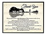 CREATORY Thank You Lyrics Poster, Music Song Print Wall Art, Home Office Decor (Design 27)