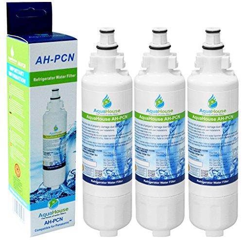 3x AH-PCN kompatibel für Panasonic Wasserfilter CNRAH-257760, CNRBH-125950, NR-B54X1, Kühlschrank Wasserfilter
