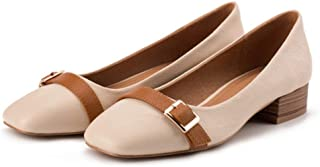 [SHINY STAR] 走れるパンプス レディース 歩きやすい スクエアトゥ 痛くない ローヒール 美脚 太ヒール 疲れにくい 大きいサイズ オフィス 通学 OL 通勤 通気性 婦人靴