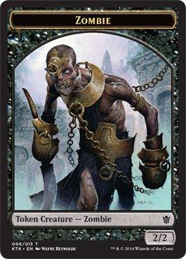 Magic The Gathering – [Zombie Token – Pedina Tottero – Khans of Tarkir