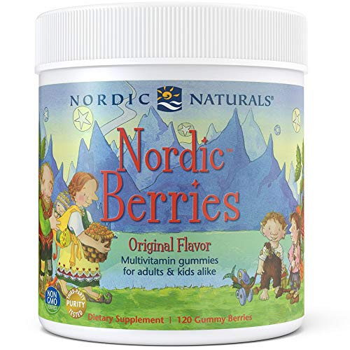 Nordic Naturals Nordic Berries Multivitamin - Chewable Vitamin for Children & Adults Provides Essential Vitamins and Nutrients for Immune System, Bone Health, Development & Overall Health, 120 Count