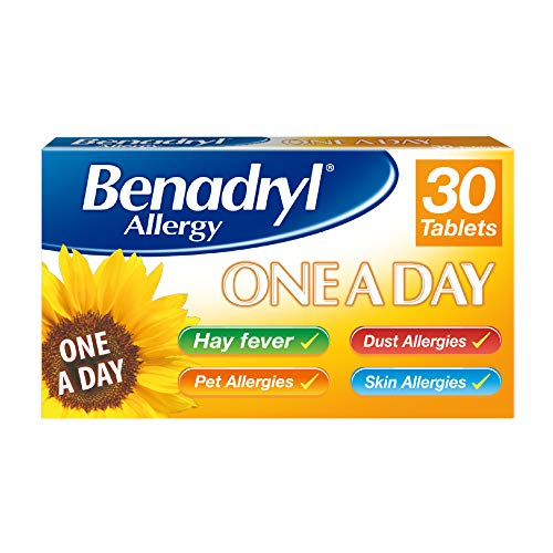 Non-drowsy hayfever tablets - Benadryl Allergy One a Day 10 mg Tablets