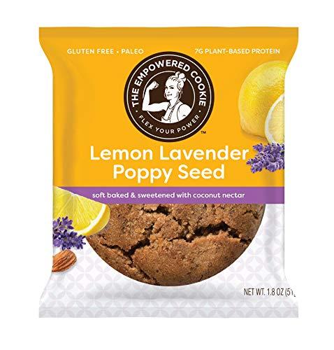 Lemon Lavender Poppyseed, 1.8oz, Pack of 12, Gluten Free Cookie, Keto Friendly, Guilt Free, Paleo Cookie, Vegan Cookie, The Empowered Cookie