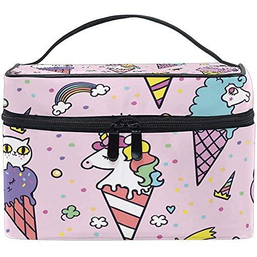 Animal Crème Glacée Femmes Voyage Maquillage Sac Portable Cosmétique Train Case Trousse De Toilette Beauté Organisateur