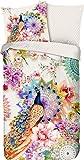 HIP Ropa de cama reversible Bengta de satén, multicolor, tamaño 200 x 200 cm (80 x 80 cm)