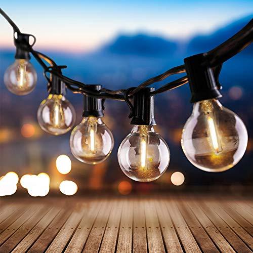 Aerb LED Catene luminose Esterno, 8M/26FT CON 30 lampadine LED, IP44 Impermeabile lampadine esterno, Vintage Luci per Patio All'Aperto Giardino Festa Decorazione di Esterni Interni - Bianco Caldo