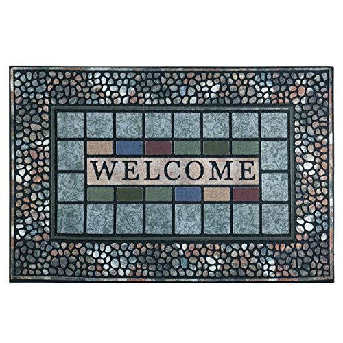 CHICHIC Entrance Door Mat Entry Way Doormat Front Door Rug Outdoor Heavy Duty Welcome Mat, Non Slip...