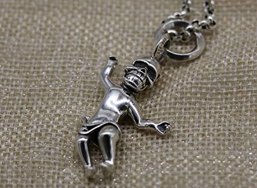 925 Silver Pendants For WomenFashion Vintage Chainless Punk Style Rock Man Skull Bone Shape Charm Pendant Unisex Jewelry Accessory Birthday Present Party Accessories