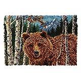 Kits de gancho de pestillo Haga su propia alfombra Alfombra de ganchillo de ganchillo de ganchillo DIY alfombra de bricolaje Set de alfombras de lona Kits de alfombra DIY para principiantes Pasatiempo