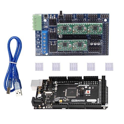 D DOLITY Tarjeta Controladora De La Impresora 3D Tarjeta Madre Mega 2560 R3 con Expansión Ramps1.5