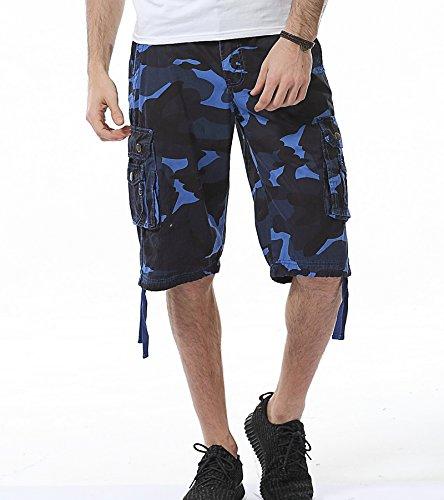 AYG Hombre Bermudas Cargo Pantal/ón Cortos de Verano Militares Camuflaje Pantalones Cortos de Trabajo