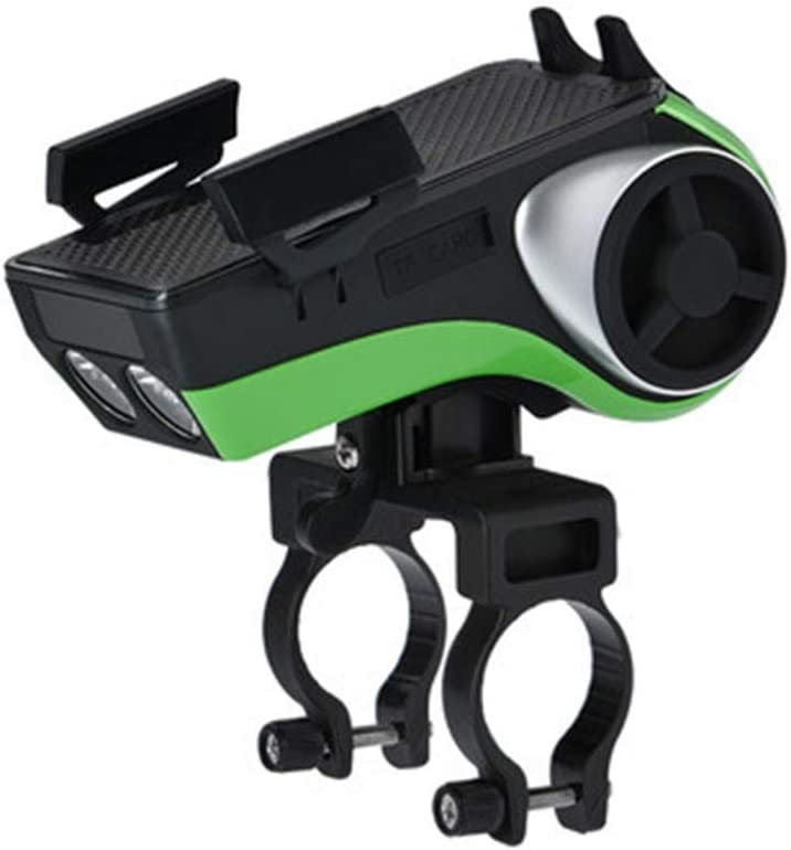 Ybriefbag Bike Phone Mount Bicycle Audio Bluetooth Subwoofer Mobile Phone Bracket Headlight Horn Riding Equipment Cycling Accessories Color : Green, Size : 6x6x13cm