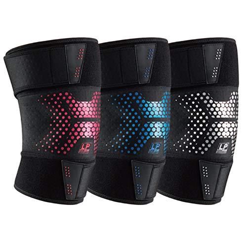 LP SUPPORT CT72 Light Shield verstellbare Kniebandage, Kniestütze, Knie-Sportbandage, Größe:Universalgröße, Farbe:2 x rot