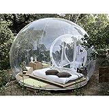 Oaimmk Casa Burbujas Transparente Hotel Inflable para Exteriores 3 m Diámetro con Inodoro, Tienda Burbujas Inflable Casa de Burbujas Panorámica 360 °, con Secador de Pelo