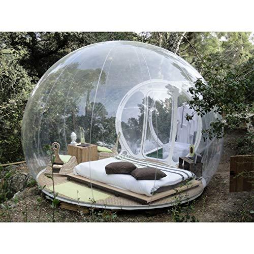 ESACLM Aufblasbares Blasenzelt Transparentes 360 ° Panorama-Zelt mit Gebläse-Einzelkanal-Iglu für Familien-Backyard-Party-Festivals im Freien Stargazing