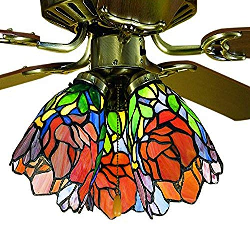 Meyda Tiffany 27482 Iris Fan Light Shade, 12,7 cm de ancho