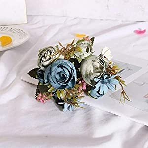 Blue European Artificial Pansy Flowers 5 Forks 12 Heads Bouquet Artificial Flowers Party for Home Decor Wedding Decoration