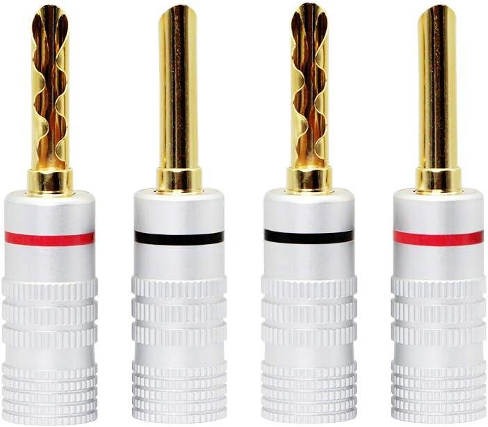 CERRXIAN New product Gold Plated Banana Plugs Plug Speaker BFA Style Virginia Beach Mall