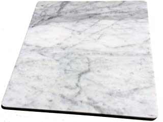 【B級品】 イタリアの大理石 40cm×40cm×1.2cm ひんやり気持ちいいペットマット(クールペットベッド)!小さなスリキズ等がある為 です♪ ビアンコカララ 表面磨き仕上げ 角部R加工仕上げ